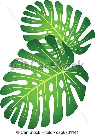 Jungle plants clipart.