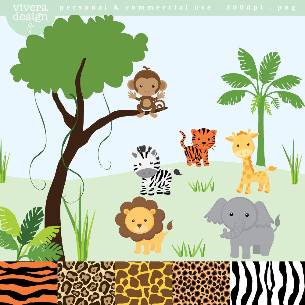Jungle Safari Clipart.