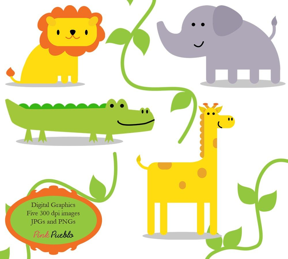 Jungle Animals Clip Art Clipart Zoo Safari Wild Animals Clip Art.