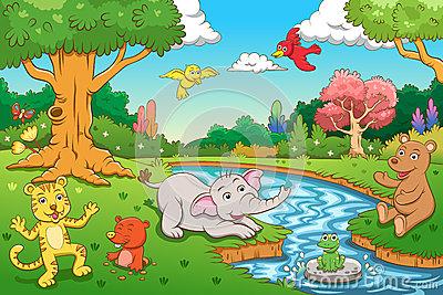Jungle clipart jungle scene, Jungle jungle scene Transparent.