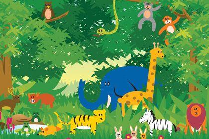 Jungle Scene.