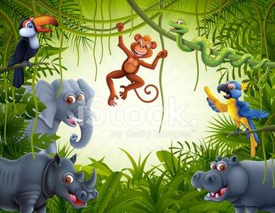 Jungle Scene Clipart Image.