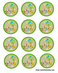 Free Safari or Jungle Theme Baby Shower Printables. Also has giraffe.