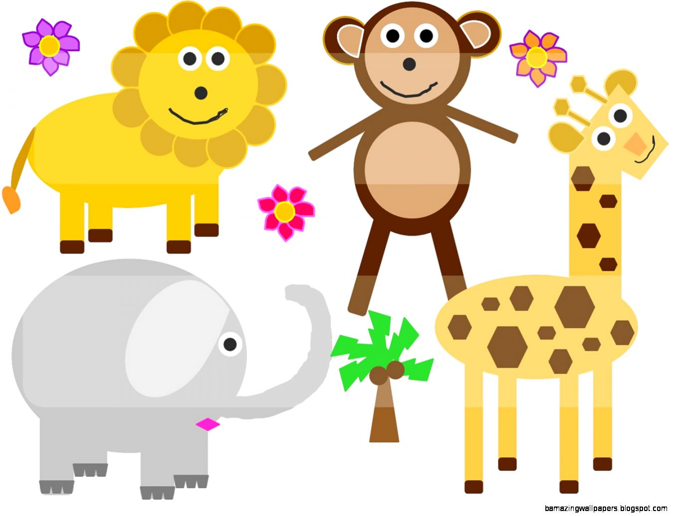 16+ Jungle Theme Baby Shower Clip Art.