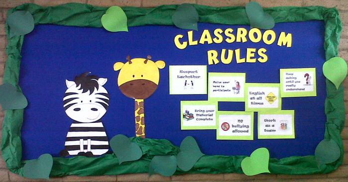 Classroom Decoration Ideas For Grade 2 ~ Jungle theme classroom clipart clipground