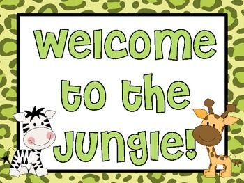 80 Best images about Jungle Theme Classroom 2016.