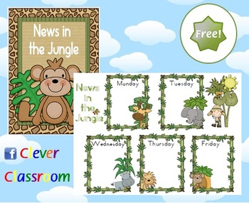 FREE News Chart Jungle Theme Classroom Poster by Clever.