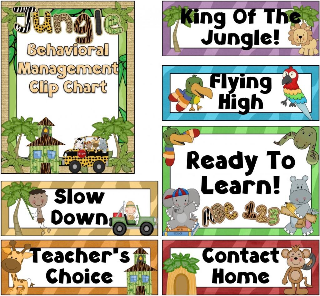 Jungle Theme Classroom Clipart.