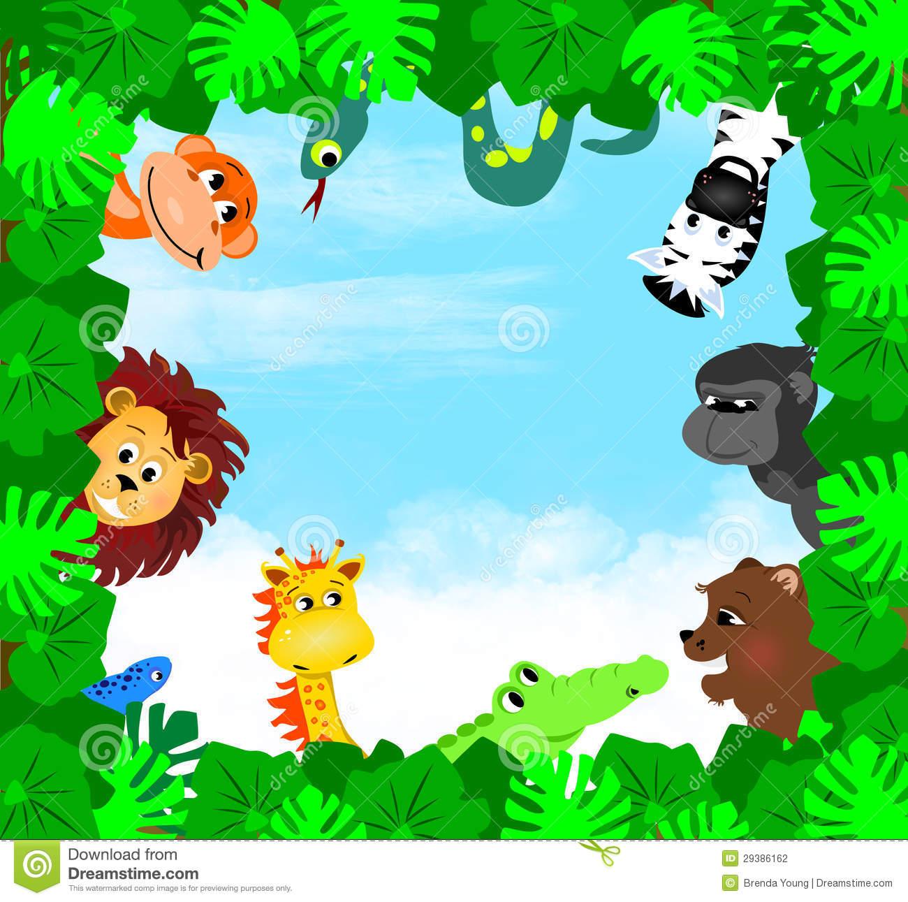 7623 Jungle free clipart.