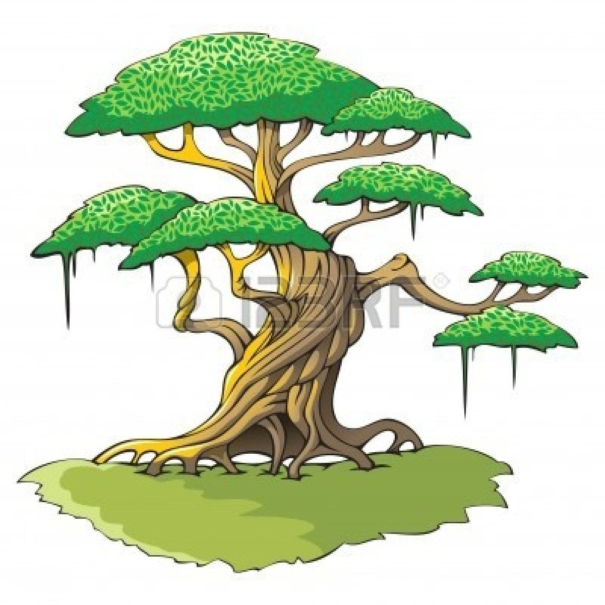 Jungle Tree Clipart Tree cutout : crooked tree.