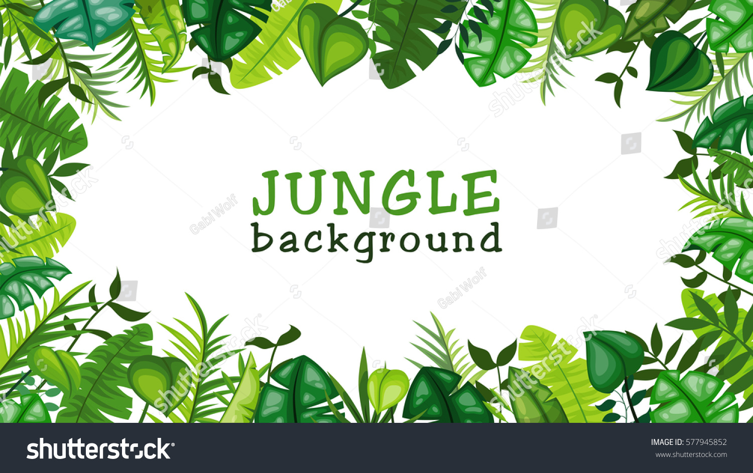 Jungle Vector Background Stock Vector (Royalty Free) 577945852.