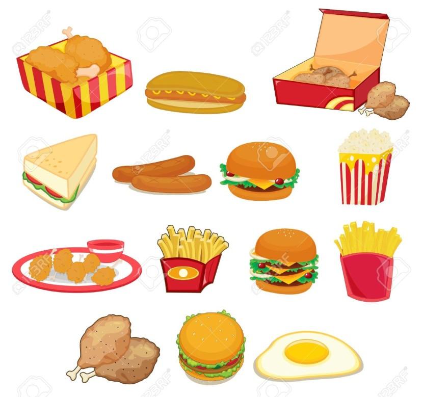 Junk Food Clipart.