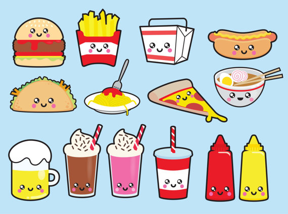 Unhealthy Food Clipart, Junk Food Free Clipart.