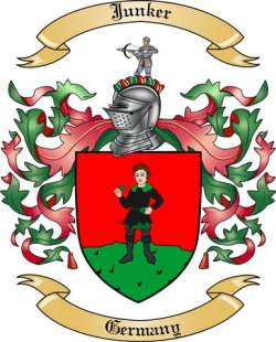 Junker Family Crest from Germany by The Tree Maker.