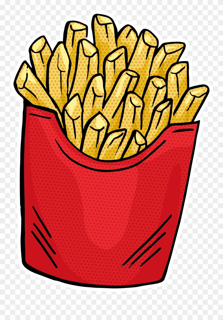 French Fries Fast Food Hamburger Junk Food Clipart (#2754025.