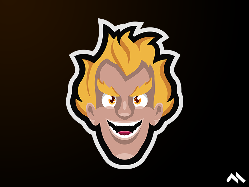 Junkrat Mascot Logo by Matt H on Dribbble.
