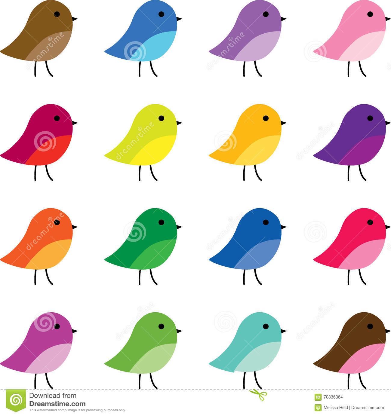 Clipart vogels.
