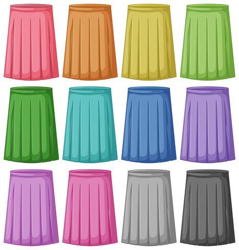 Ensemble de couleur différente de la jupe.