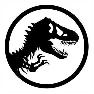 Jurassic Park Trex Logo Black svg.