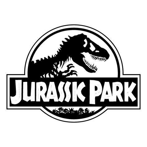 Jurassic Park Logo Black And White.