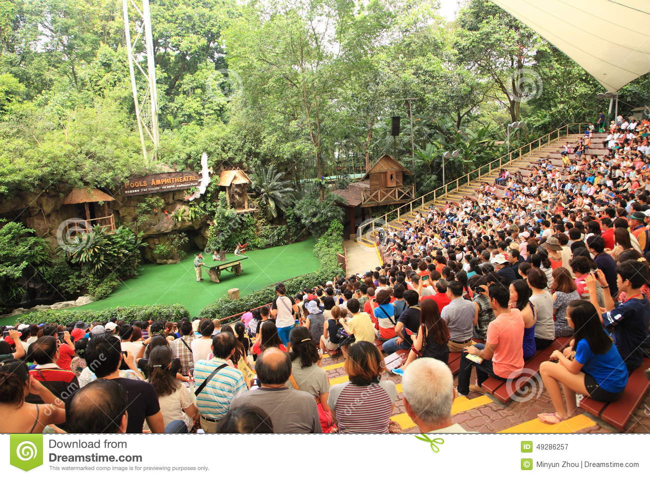 Jurong Bird Park In Singapore Editorial Photography.