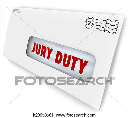 Jury Duty Envelope Summons Appear Court Legal Law Case Clip Art.