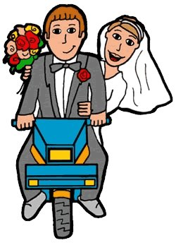 Just married clipart clip art.