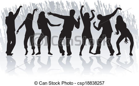 Clipart Vector of just dance csp18838257.