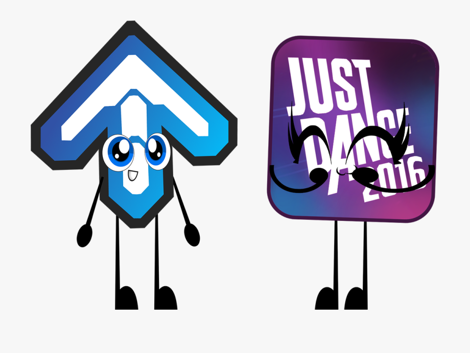 Ddr Arrow And Just Dance Logo By Coulden2017dx.