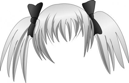 Manga Hair Clipart.