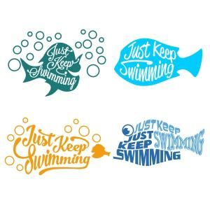 Just Keep Swimming SVG Cuttable Designs.