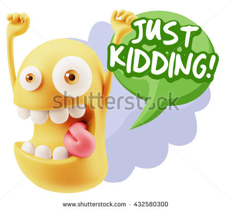 Just Kidding Stock Images, Royalty.