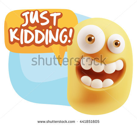 3d Rendering Smile Character Emoticon Expression Saying Just.