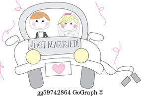Just Married Clip Art.