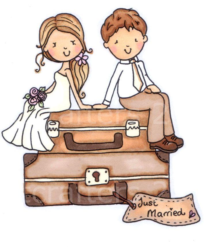 Just Married Digi Stamp.