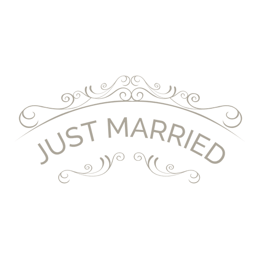 Just married ornate badge 6.