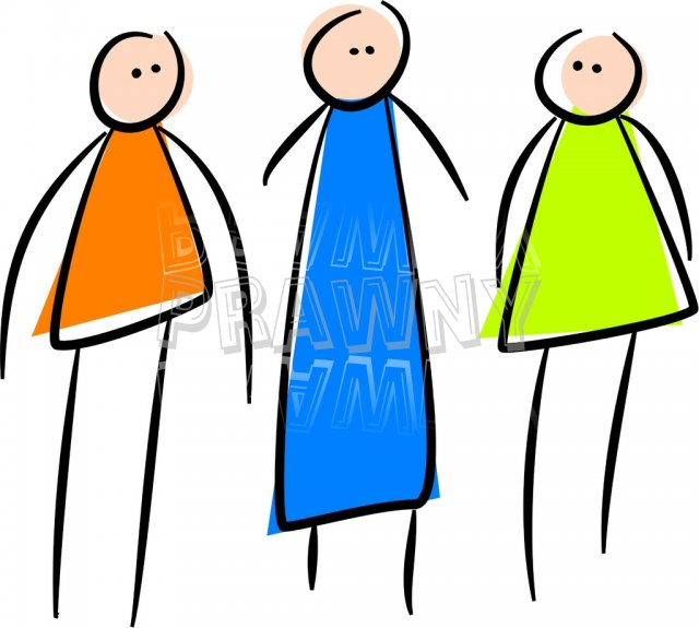 Three People Just Standing There Prawny Stick People Clip Art.