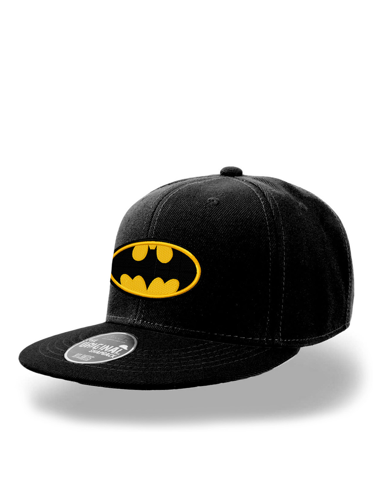 CID DC Originals Batman Logo Flat Peak Black Snapback Cap.