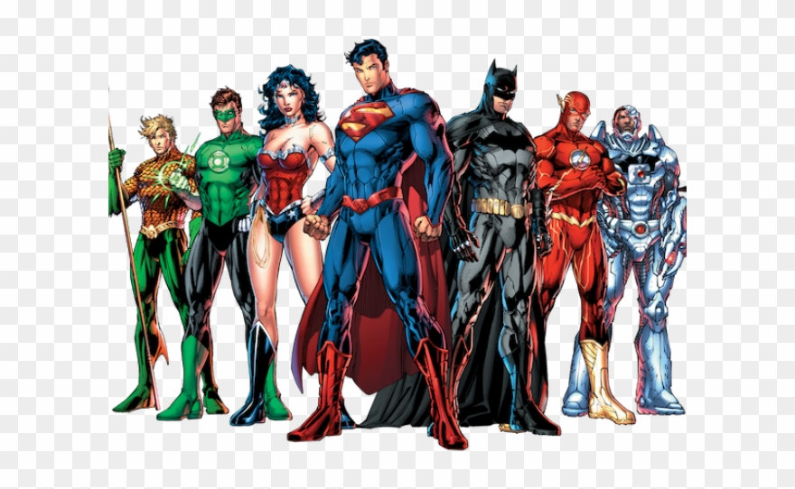 Justice League Comic Png Clipart (#3306863).