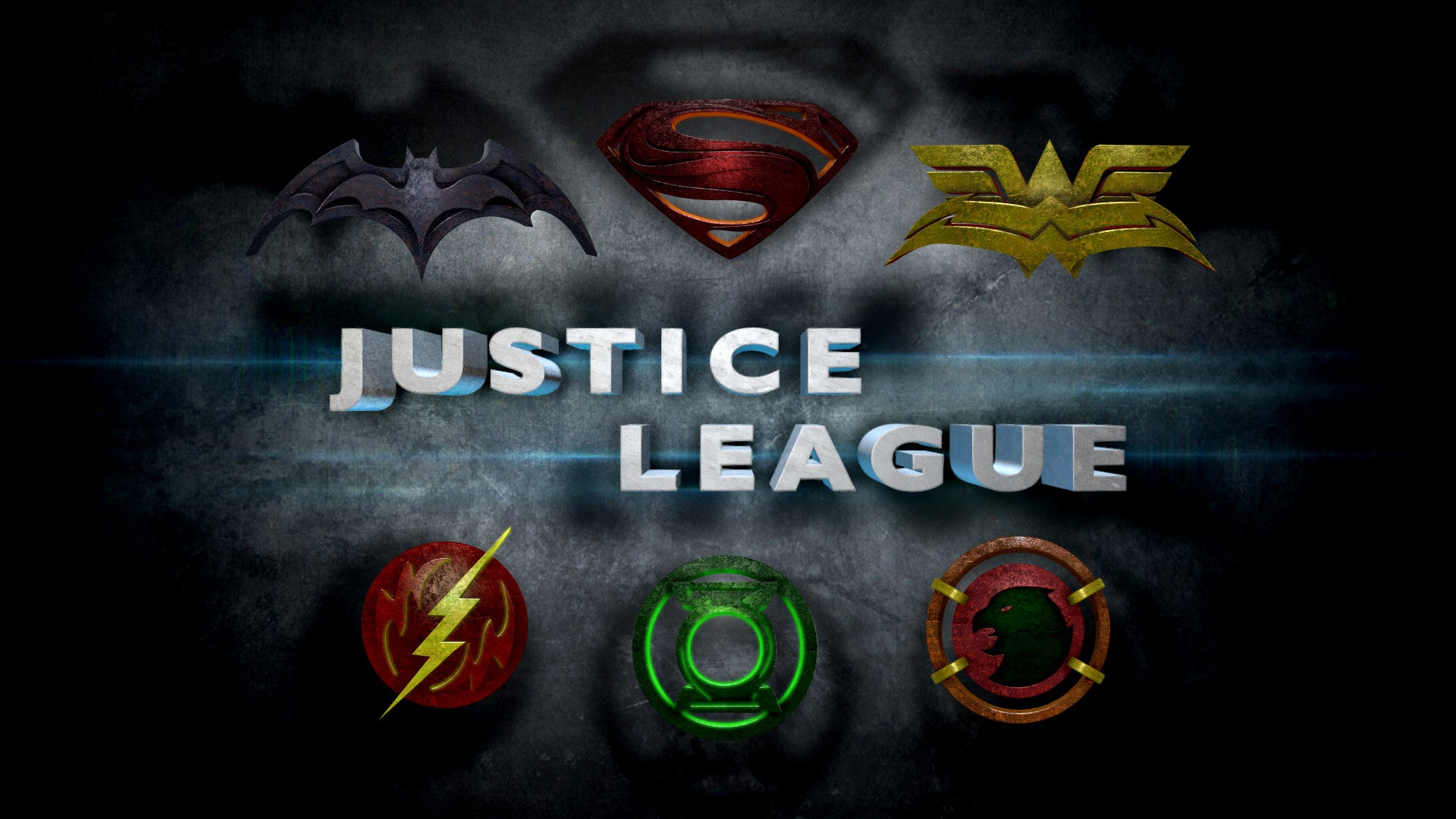Justice League Movie Logos In the Style of Man of Steel.