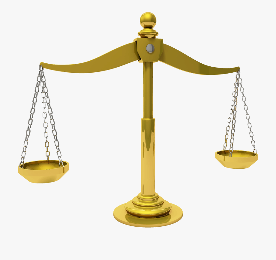 Scales Of Justice Transparent Background #975169.