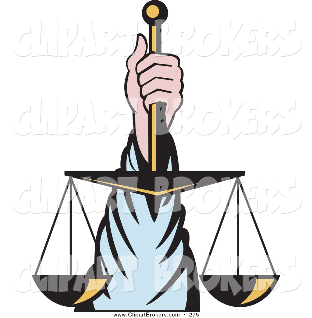 Clipart Scales Of Justice.