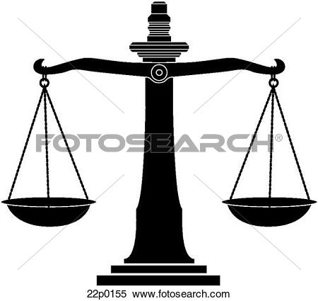 Clipart of justice scale 22p0155.