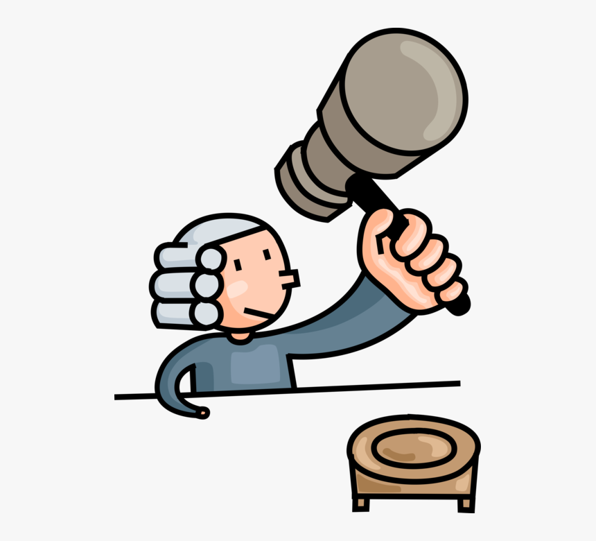 Vector Illustration Of Law And Order Judicial Court.