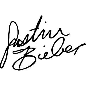 Justin Bieber SIgnature, Music Decals.