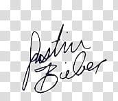 Autografos algunos famosos, Justin Bieber autograph.