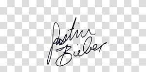 Autograph Justin Bieber transparent background PNG clipart.