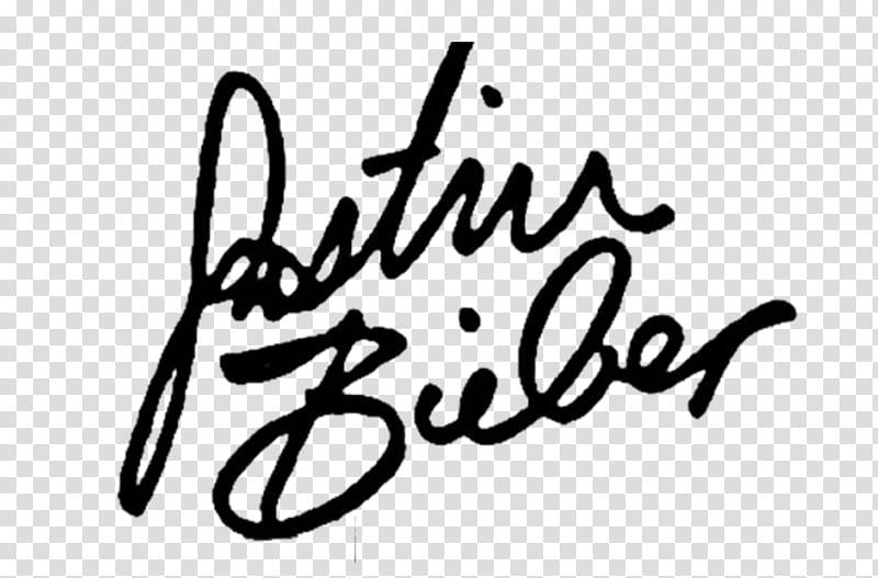 Justin Bieber V magazine, Justin Bieber signature.