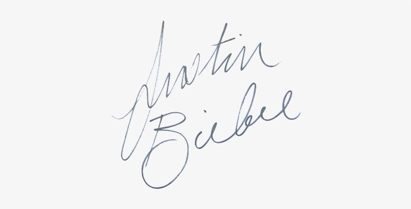 Signature Of Justin Bieber.