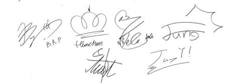 header autograph.